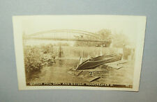 Old Vtg 1910s Post Card Quaker Mill Dam with Unusual Boat Added to Image Nice