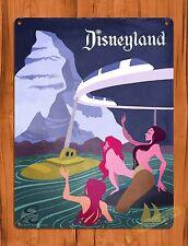 "TIN SIGN ""Disneyland Monorail Mermaids"" Ride Art Poster"