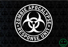 "ZOMBIE APOCALYPSE RESPONSE UNIT STICKER DECAL LARGE 180MM/8""Wide CAR TRUCK UTE."