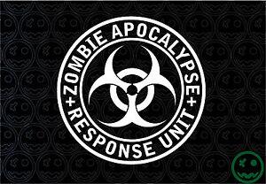 "ZOMBIE APOCALYPSE RESPONSE UNIT STICKER DECAL LARGE 180MM/8""Wide CAR TRUCK UTE."