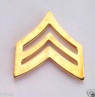 US ARMY RANK E5 SGT (GOLD) Military Veteran Rank / Hat Pin 14887 HO