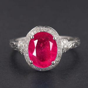 2.00Ct AA Natural Burmese Ruby & IGI Certified Diamond Women's Ring In 14KT Gold