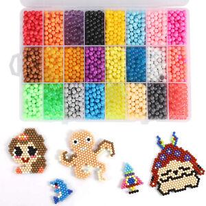 5200x Aqua Beads Glitzer Basteln Kinder Bastelset Glitzerperlen Perlen mit Box
