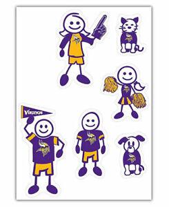 NFL Minnesota Vikings Small Family Decal Set