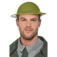 Verde SOLDADO Sombrero WW2 TOMMY Ejército Militar Hombre Accesorio de disfraz