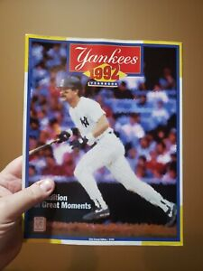 1992 New York Yankees Yearbook 43rd Annual Edition