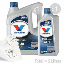 Car Engine Oil Service Kit / Pack 5 LITRES Valvoline SynPowr MST C3 5W-30 5L
