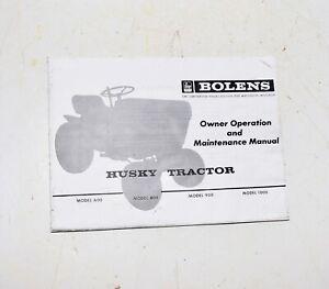 Bolens Husky Tractor * OPERATION INSTRUCTION MANUAL 600 800 900 1000 Lawn Mower