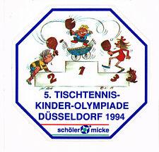 Aufkleber Tischtennis 5. Kinder Olympiade 1994