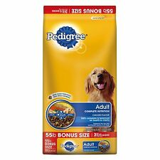 Pedigree Adult Complete Nutrition - 55 lbs. dog food healthy skin NEW NEW