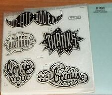 CTMH D1595 CLOUD NINE PROMOTION STAMP ~ HIP HIP HOORAY, Just because, THANKS