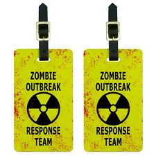 Zombie Outbreak Response Team - Radiation Symbol Luggage ID Tags Set of 2