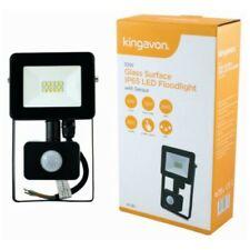 10 W LED Glass Surface Floodlight Outdoor Sensor Security Light Waterproof UK