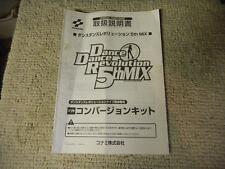 JAPANESE DANCE DANCE REVOLUTION  5TH MIX ARCADE video game manual  KONAMI