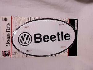 VW Volkswagen Vintage VTG STEEL SIGN LICENSE OVAL