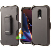 For OnePlus 6T Case (Clip fits Otterbox Defender) Holster Screen Protector Cover