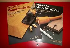 Projects For Woodworkers Volume 1 And 2 Excellent Condition Softcover 1992