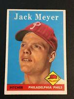 F64180  1958 Topps #186 Jack Meyer PHILLIES