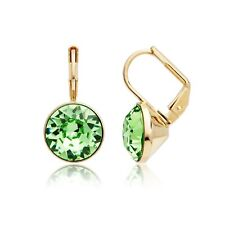 ac7bfe87e Bella Earrings with 4 Carat Peridot Swarovski Crystals Gold Plated