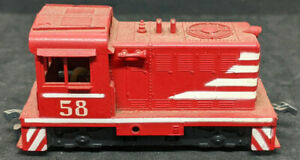 Athearn HO: Hustler Switcher Locomotive Red #57. Rubber Band Drive Vtg Rare