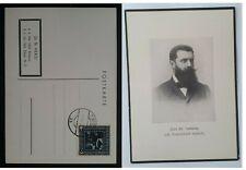 1929 Austria Theodor Herzl 25th Anniversary Postcard ties 8+2Gr stamp Vienna