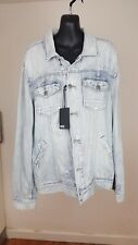 Paige Light Blue Washed Denim Jacket size M RRP £270 - New with tags
