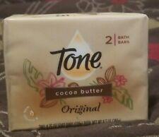 TONE Original Cocoa Butter With Vitamin E   2Bars 8.25 Oz Each NEW