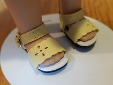 Yellow Sandals - that fit Wellie Wisher Wishers Dolls - #481