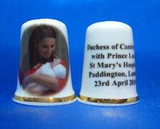 Birchcroft China Thimble -- Duchess of Cambridge & Prince Louis -- Free Gift Box