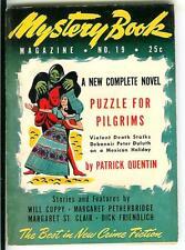 MYSTERY BOOK MAGAZINE #19, 1947, rare US crime noir pulp digest size mag
