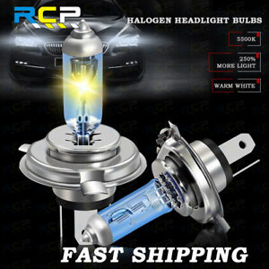 H4 9003 Halogen Bulbs HB2 HS1 Headlight Xenon Lamps 5500K Super Bright 120W/130W