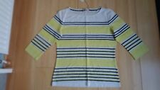 M&S Ladies Per Una Striped 3/4 Sleeved Top - Yellow Mix -Size 14 - New with Tags