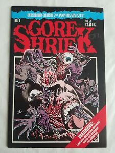 GORE SHRIEK VOL. 1 #6 COMIC BOOK HIGH GRADE FANTACO 1989 STEVE BISSETTE RARE HTF