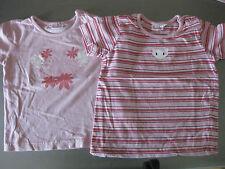 2 Stück T-Shirt, Shirt, Gr. 98/104, impidimpi, Pink/Rosa, Schulterknöpfe, schön
