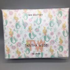 3pc Mermaid TWIN Sheet Set Floral Ocean Millennial Pink Mint Green Tabitha Webb