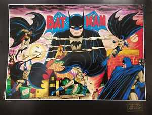 Batman The Beginning LE Lithograph #40/50 Signed by Shelly Moldoff