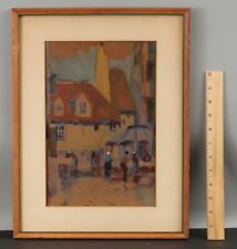 New listing Elizabeth Hunt Barrett Impressionist European Country Town Watercolor Painting