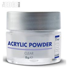 The EDGE NAILS ACRYLIC POWDER Clear 8g Professional Self Levelling & Medium Set