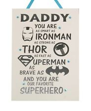 Daddy Superhero - Handmade Wooden Plaque Father's Day