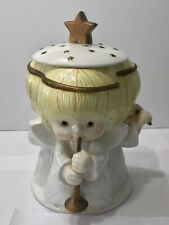 "Hallmark Gourmet Gifts Cookie Jar Three Musical Angels Houston Harvest 12"""