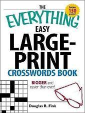 Large Print Crosswords Puzzle, Trivia & Indoor Games Books