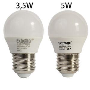Extrastar LED E27 Lampe 3,5W-5W Tropfenform Kugel Kalt- Warmweiß ersetzt Sparlam