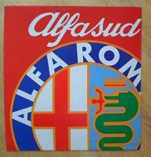 ALFA ROMEO Alfasud 1200 UK Market intro brochure 1974