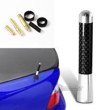 "3"" Silver Carbon Fiber Overlay Car Aerial Radio Antenna +Screws For Toyota Jeep"