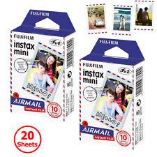 Fujifilm Instax Mini Film Airmail 20 Sheets Photo For Fuji Instant 7s 8 9 C