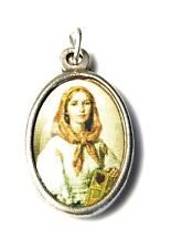 """Saint Dymphna relic 1"""" medal of mental disorders, neurological disorders victims"""