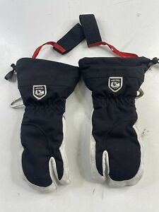 Hestra Army Leather Heli Ski Glove - Classic 3-Finger Snow Skiing Size 7