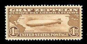MOMEN: US STAMPS #C14 GRAF ZEPPELIN MINT OG NH VF/XF PF CERT