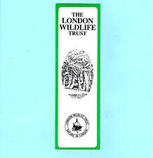 Vintage Old LWT Bookmark London Wildlife Trust Thorpe Close Birds Wildlife Gifts