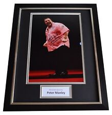 Peter Manley SIGNED FRAMED Photo Autograph 16x12 display Darts Sport AFTAL COA
